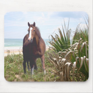Horse Mousepad Beach