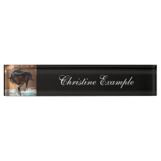 Horse Name Plate