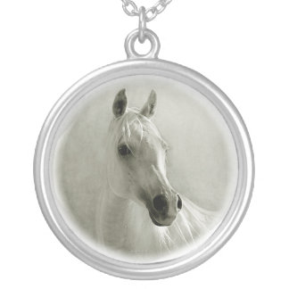 horse_neckace2 silver plated necklace