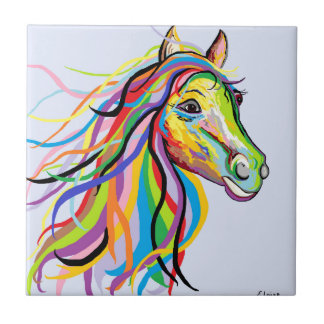 Horse of a Different Color Tile