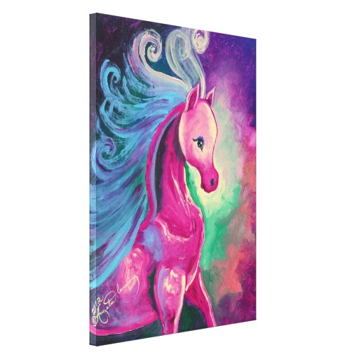 Horse Of Bright Colours Canvas Prints