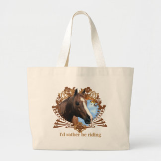 Horse of Course Large Tote Bag