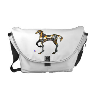 "Horse of opus number 20131227000c ""machine"" courier bag"