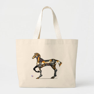 "Horse of opus number 20131227000c ""machine"" jumbo tote bag"