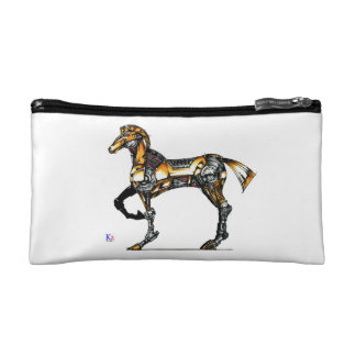 "Horse of opus number 20131227000c ""machine"" makeup bags"