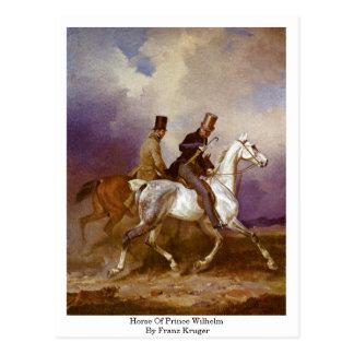 Horse Of Prince Wilhelm By Franz Kruger Postcard