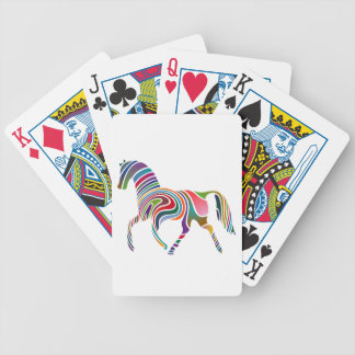Horse of rainbow bicycle playing cards