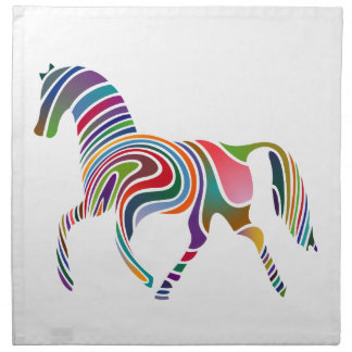 Horse of rainbow napkin