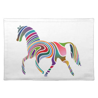 Horse of rainbow placemat