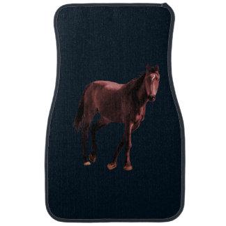 Horse on a car floor mat