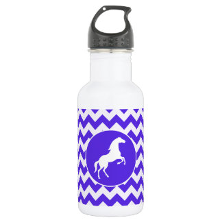 Horse on Blue Violet Chevron; Equestrian