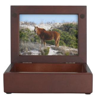 Horse On Mountain Keepsake Box
