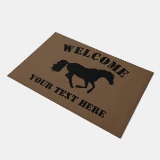 Horse or pony riders welcome doormat