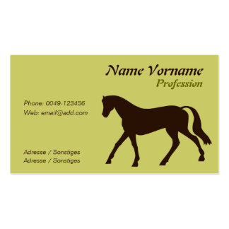 Horse Pack Of Standard Business Cards