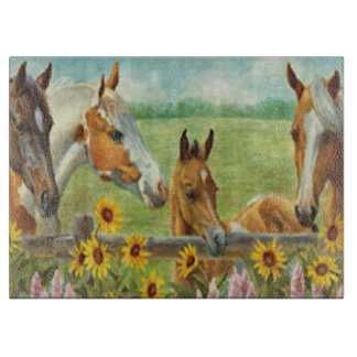 Horse Painting Cutting Board