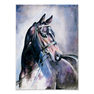 Horse Painting Mini Poster