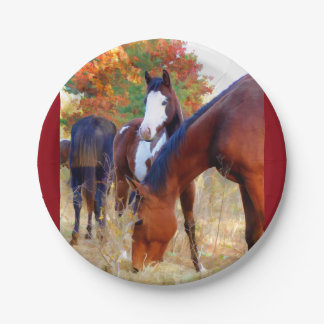 Horse Party Paper Plate