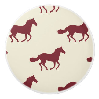 Horse Pattern Ceramic Knob