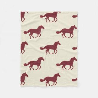 Horse Pattern Fleece Blanket
