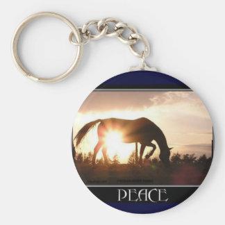 Horse Peace Keychain