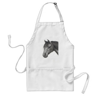 HORSE: PENCIL ART: REALISM STANDARD APRON
