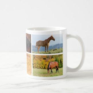 Horse Photo Collage Mug
