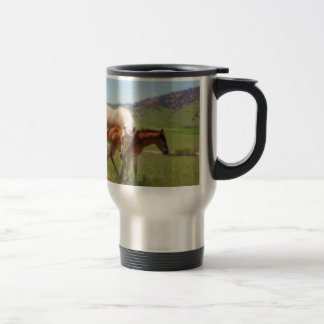 Horse Photo Mare and Foal  Home and Kitchen Decor Travel Mug