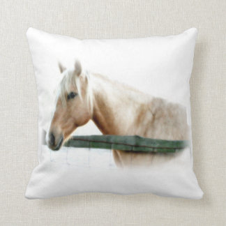 Horse Photograph Throw Pillows
