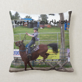 Horse pillow. Keep calm and ride on! Throw Pillow