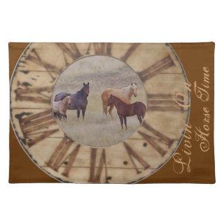 Horse Placemat, Fabric Cotton Gorgeous Place Mat