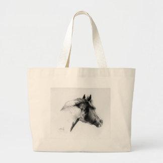 Horse Portrait Large Tote Bag
