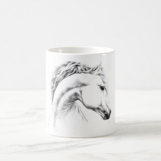 Horse portrait pencil drawing Mugs
