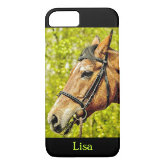 Horse Portrait Personalized Name iPhone 7 Case