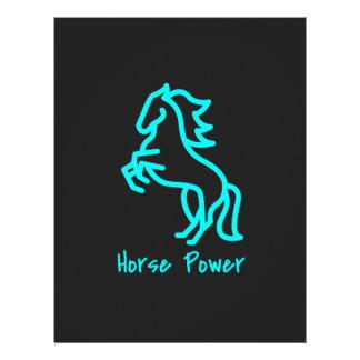 Horse Power in Blue Letterhead