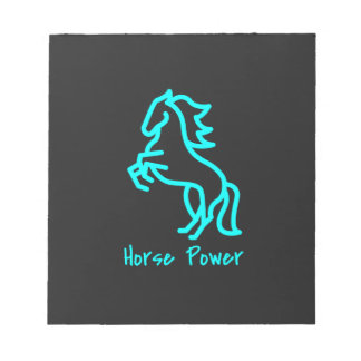 Horse Power in Blue Notepad