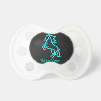 Horse Power in Blue Pacifier