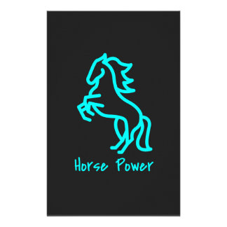 Horse Power in Blue Stationery