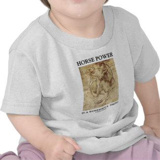 Horse Power Is A Wonderful Thing Leonardo da Vinci T Shirts