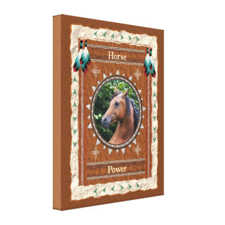 Horse  -Power- Wrapped Canvas