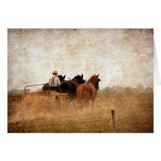 Horse Powered Field Work, Birthday Card