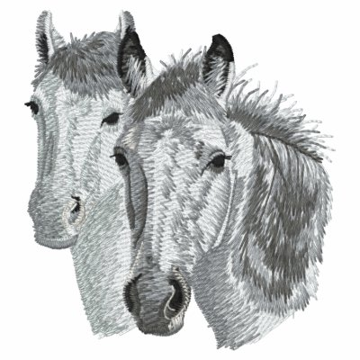 Horse Profile Pair Embroidered Shirts
