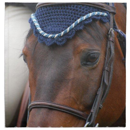 Horse Profile Set of Four Napkins