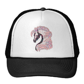 horse quilt style fasion trucker hat
