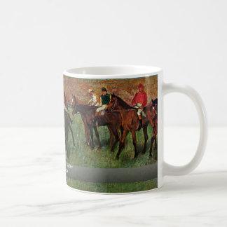 Horse Race Before The Start By Edgar Degas Coffee Mug