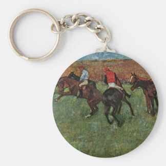 Horse Race Before The Start By Edgar Degas Keychain
