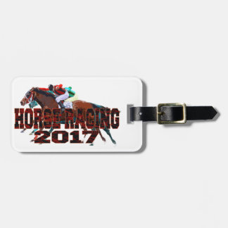 horse racing 2017 luggage tag