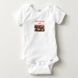 horse racing baby onesie