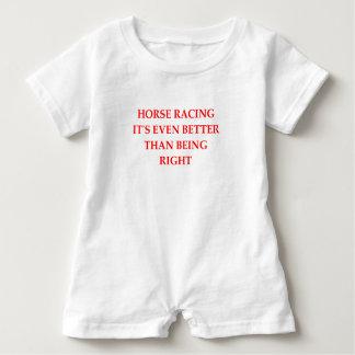 horse racing baby romper