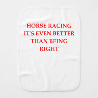horse racing burp cloth