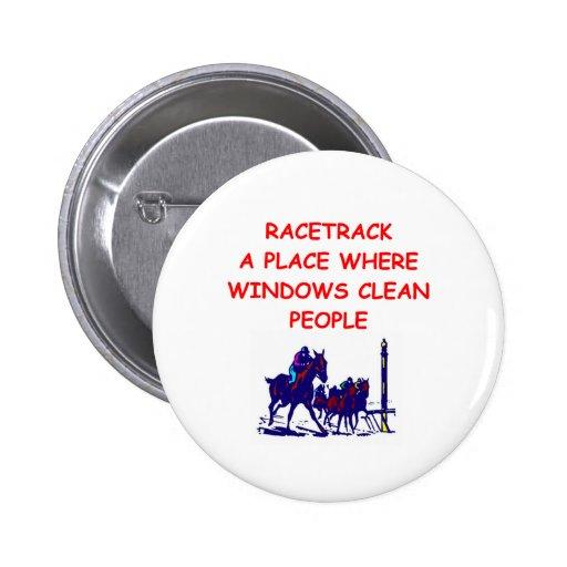 horse racing pinback buttons